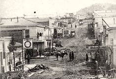 1860s | Bridge Street, 1860s, looking east from the Gulch. By the 1970s, this ...
