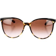 Pre-owned Oliver Peoples Sunglasses ($125) ❤ liked on Polyvore featuring accessories, eyewear, sunglasses, black, oliver peoples, black glasses, oliver peoples eyewear, oliver peoples glasses and tortoiseshell glasses
