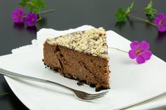 Chocolate Cheesecake with Chocolate Sauce, Butter Caramel Sauce and Hazelnuts