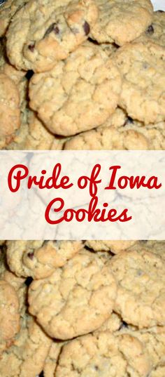 Pride of Iowa Cookies. Come and see what makes these cookies so special! These will store in an air tight container (if you can keep the family away!) | Lovefoodies.com