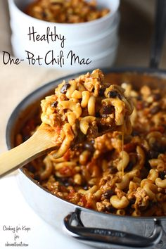 Healthy One Pot Chili Macaroni ~ Forget the package, this is the REAL stuff!