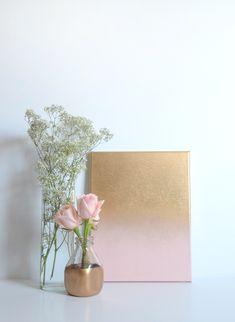 DIY | GOLD OMBRE CANVAS