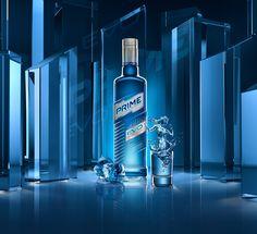 vodka Prime by uDAV Dmitriy_Aksonov, via Behance Alcohol Bottles, Drink Bottles, Vodka Bottle, Wine Photography, Advertising Photography, Product Photography, Cocktail Drinks, Alcoholic Drinks, Food Graphic Design