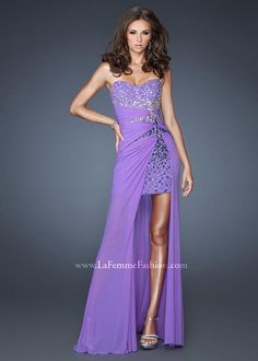 Gorgeous purple high low prom dresses - Gigi 18567 Purple Hi-Lo Dress - http://www.rissyroos.com/gigi-18567-purple.html
