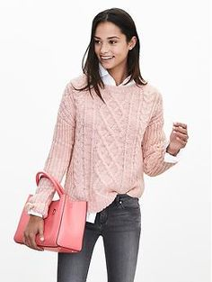 Chunky Cable-Knit Pullover | Banana Republic