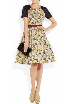 Jason Wu Printed structured silk dress. Love the art deco floral...