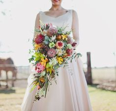 Bold, beautiful and long lasting, the protea family has made a heck of a resurgence in the wedding world. Many species are native to Australia, but even those that aren't tend to grow easily here, making them a wonderful choice for the eco-conscious bride.