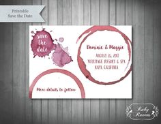 Winery Wedding Save The Date Vineyard Save the Date by RubyRavens More