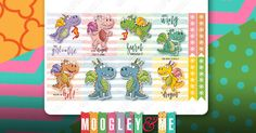 3 Sheets of Dragon Planner Stickers for your Erin Condren Life Planner, Happy Planner, or any planner! by MoogleyandMe on Etsy