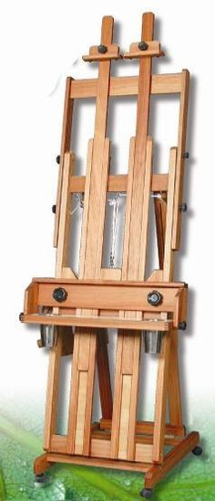 Woodwork Shop How To Build An H Frame Easel - WoodWorking Projects Woodworking Furniture Plans, Woodworking School, Beginner Woodworking Projects, Woodworking Books, Learn Woodworking, Woodworking Jointer, Woodworking Inspiration, Woodworking Equipment, Popular Woodworking