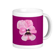 Pink Pansy Mug