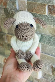 Amigurumi Sheep Crochet Pattern + EXTRA tutorial for lamb with pants and braces- Crochet Tutorial - Instant download - Printable