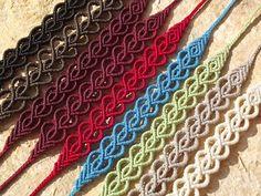 Makramé csomózott textil ékszer, macrame http://www.meska.hu/Shop/index/17554