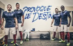 France unveil their World Cup kit. Very nice.