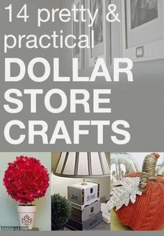 I love DIY crafts that don& hurt my wallet! These 14 Dollar Store crafts are perfect for my budget! I love DIY crafts that dont hurt my wallet! These 14 Dollar Store crafts are perfect for my budget! Dollar Store Hacks, Dollar Stores, Thrift Stores, Diy Craft Projects, Craft Ideas, Diy Ideas, Decor Ideas, Theme Ideas, Project Ideas