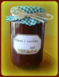 Mermelada de plátano y chocolate Marmalade Jam, Fruit Preserves, Candied Fruit, Jam And Jelly, Liqueur, Homemade Sauce, Secret Recipe, Barbacoa, Tostadas