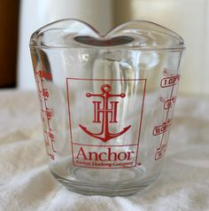 Vintage Anchor Hocking Company Glass Measuring Cup