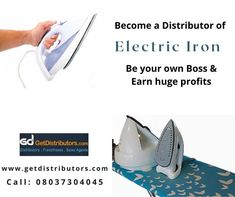Top Brands/ Huge #Profit Margins/ Assured #ROI Share your contact details for this #businessopportunity Become A Distributor, Be Your Own Boss, Steam Press Iron, Consumer Electronics, How To Become, Sales Agent