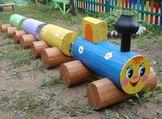Playground at the cottage Tire Playground, Natural Playground, Outdoor Playground, Kids Outdoor Play, Kids Play Area, Backyard For Kids, Vintage Garden Decor, Diy Garden Decor, Garden Archway