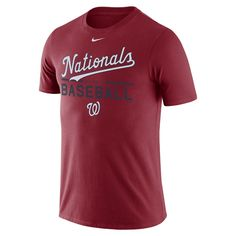 Nike Practice (MLB Nationals) Men's T-Shirt Size