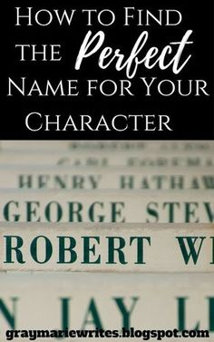 How to Find the Perfect Name for Your Character