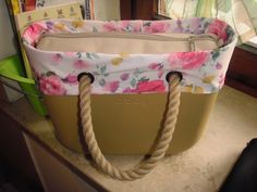 pink flower o'bag cover spring primavera accesori made in italy diy sewing sew machine
