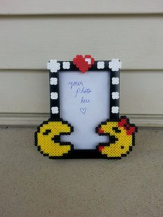 Pac Man Couples Picture Frame by BurritoPrincess on Etsy, $14.00