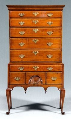 New England Chippendale highboy.