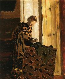 Woman Brushing a Garment - Édouard Vuillard