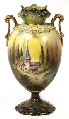 R.S. Prussia Castle Vase