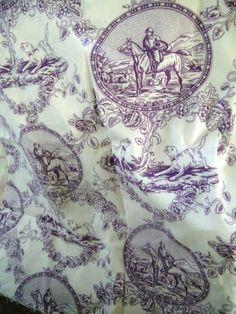 Purple toile valance, via Maison Decor.