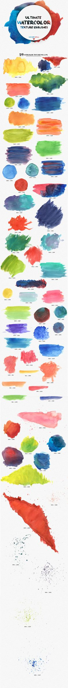 Ultimate  watercolors texture by pina colada on Creative Market