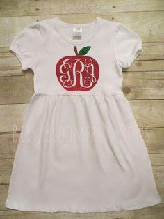 Girls' Back to School Dress Red Glitter by BibsBloomersandBows