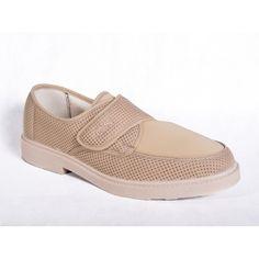 ZAPATO CABALLERO DE REJILLA RELAX CON VELCRO Y LICRA - confortableshoes.com