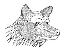 Grab your coloring tools and help this FREE coloring page of a fox come to life! #FaveCrafter #coloring #adultcoloring