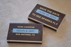 Matchbook   10 Even More Pretty Perfect Save the Date Ideas