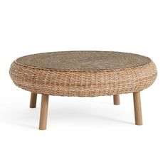 Santa Ana Woven Coffee Table #potterybarn