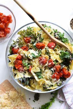 Kale Caesar Pasta Salad. Yes please!