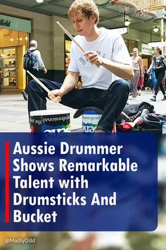 A talented Aussie drummer got recognition and a boost to his musical career after he came into the spotlight, in a fantastic showing his unique skills as a bucket drummer. He was filmed performing with just a bucket and drumsticks, captivating with his exceptional talent and electrifying showmanship. It became an instant viral sensation. #StreetPerformer #Music #Drumming