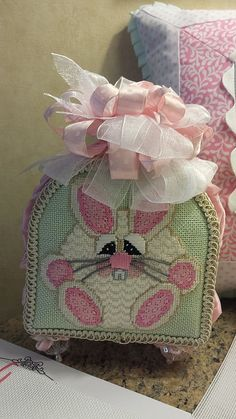 Cute Stand Up Bunny needlepoint