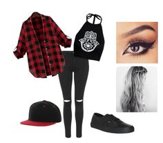 """""""Untitled #39"""" by hezka-girl on Polyvore featuring Topshop, Boohoo and Vans"""