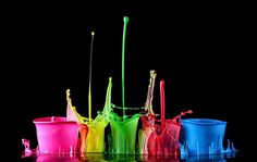 buckets of poured colour ...