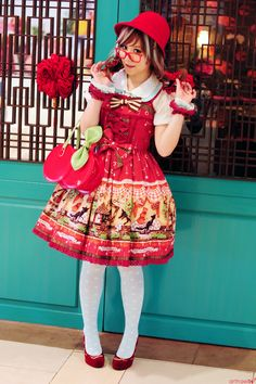 We took these photos in front of a Chinese restaurant. The owner was kind enough to invite us to take the photos, and even closed the front door to give us a background :) Outfit Rundown JSK, Bag : Baby, the Stars Shine Bright OTKs : Jane Marple Blouse : Wondertropolis Accessories : Angelic Pretty