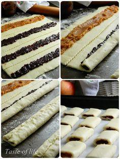 Taste of life: Štrudlice sa pekmezom Kitchen Recipes, Baking Recipes, Cookie Recipes, Dessert Recipes, Albanian Recipes, Croatian Recipes, Kolaci I Torte, Pillsbury Recipes, Recipes From Heaven