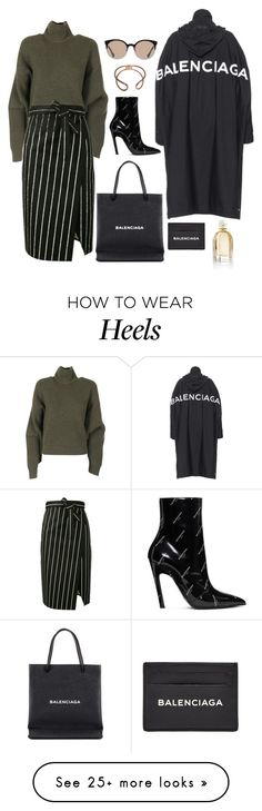 """""""Balenciaga"""" by cherieaustin on Polyvore featuring Balenciaga How To Wear Heels, Sport Chic, Wardrobe Basics, Mix N Match, Polyvore Outfits, Skirt Outfits, Autumn Fashion, Women's Fashion, Balenciaga"""