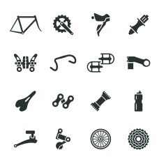19413166 Set Of Sprocket Icons Stock Vector Bike Gear