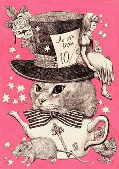 Yuko Higuchi illustration - alice in wonderland