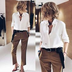 Ideas For Moda Casual Outfits Sandals Mode Outfits, Fall Outfits, Casual Outfits, Fashion Outfits, Womens Fashion, Casual Pants, Fashion Tips, Looks Chic, Looks Style