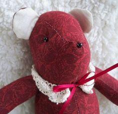 Edwina the Little Teddy Bear by ellemardesigns on Etsy, $10.00