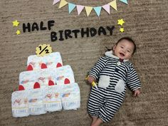 New Ideas Baby Fotos Ideas 6 Month Baby Picture Ideas Boy, Baby Girl Pictures, Half Birthday Baby, Baby Monat Für Monat, Monthly Baby Photos, Monthly Pictures, Foto Baby, Baby Poses, Baby Memories